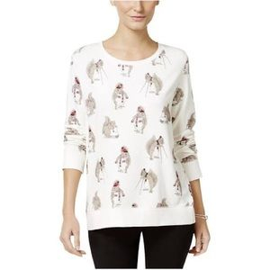 Style & Co. Womens Graphic Long Sleeves T-Shirt